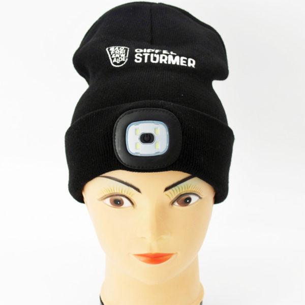 Gipfelstürmer-Mütze mit LED-Licht